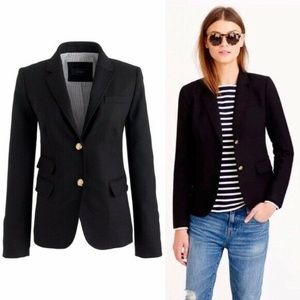 J Crew Schoolboy Blazer 8 05157 Black Jacket